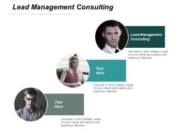 Lead Management Consulting Ppt Slides Show Cpb