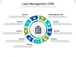 Lead Management CRM Ppt Powerpoint Presentation Pictures Show Cpb