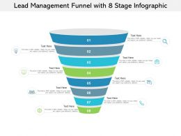 Lead Management Funnel With 8 Stage Infographic