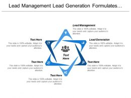 Lead Management Lead Generation Formulates Capture Plan Strategy