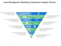 Lead Management Marketing Operations Analysis Service Delivery Events Management