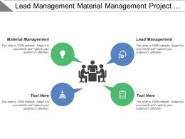 Lead Management Material Management Project System Records Management