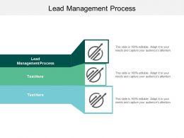 Lead Management Process Ppt Powerpoint Presentation Portfolio Shapes Cpb