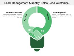 Lead Management Quantity Sales Lead Customer Response Funnel
