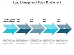 Lead Management Sales Enablement Ppt Powerpoint Presentation Infographics Show Cpb