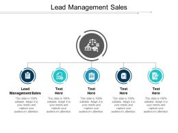 Lead Management Sales Ppt Powerpoint Presentation Gallery Inspiration Cpb