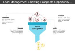 Lead Management Showing Prospects Opportunity And Proposal