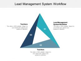 Lead Management System Workflow Ppt Powerpoint Presentation File Inspiration Cpb