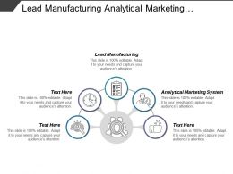 Lead Manufacturing Analytical Marketing System Business Analytics Marketing Cpb