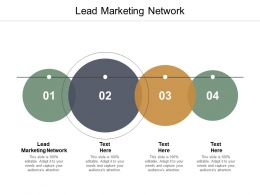 Lead Marketing Network Ppt Powerpoint Presentation Infographics Guide Cpb