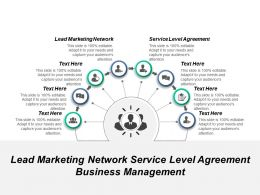 Lead Marketing Network Service Level Agreement Business Management Cpb