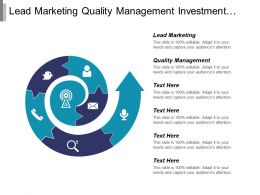Lead Marketing Quality Management Investment Management Marketing Development Cpb