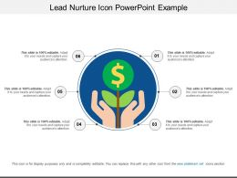 Lead Nurture Icon Powerpoint Example