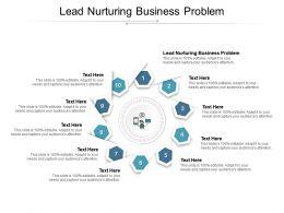 Lead Nurturing Business Problem Ppt Powerpoint Presentation Portfolio Infographic Template Cpb