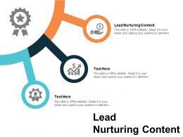 Lead Nurturing Content Ppt Powerpoint Presentation Slides Topics Cpb