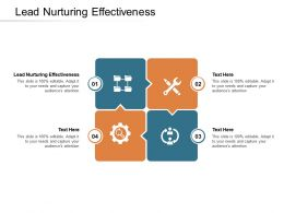 Lead Nurturing Effectiveness Ppt Powerpoint Presentation Infographic Template Styles Cpb