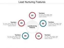 Lead Nurturing Features Ppt Powerpoint Presentation Portfolio Model Cpb