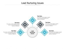 Lead Nurturing Issues Ppt Powerpoint Presentation Infographics Themes Cpb