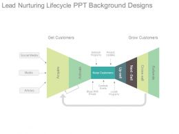 Lead Nurturing Lifecycle Ppt Background Designs