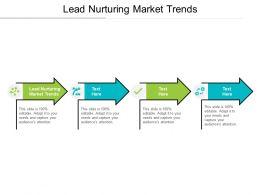 Lead Nurturing Market Trends Ppt Powerpoint Presentation Show Layout Ideas Cpb