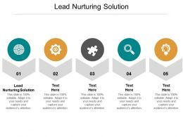 Lead Nurturing Solution Ppt Powerpoint Presentation Show Cpb