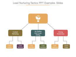 Lead Nurturing Tactics Ppt Examples Slides