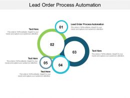 Lead Order Process Automation Ppt Powerpoint Presentation Inspiration Show Cpb