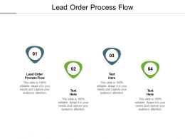 Lead Order Process Flow Ppt Powerpoint Presentation Portfolio Background Images Cpb