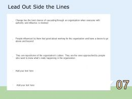 Lead Out Side The Lines Beyond Ppt Powerpoint Presentation Professional Portrait