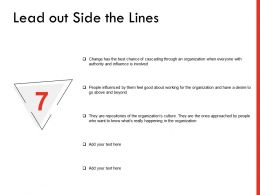 Lead Out Side The Lines Ppt Powerpoint Presentation Professional Information