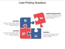 Lead Probing Questions Ppt Powerpoint Presentation Icon Format Ideas Cpb