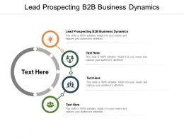 Lead Prospecting B2B Business Dynamics Ppt Powerpoint Presentation Portfolio Cpb