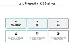 Lead Prospecting B2B Business Ppt Powerpoint Presentation Slides Cpb