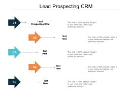 Lead Prospecting CRM Ppt Powerpoint Presentation Model Layout Ideas Cpb
