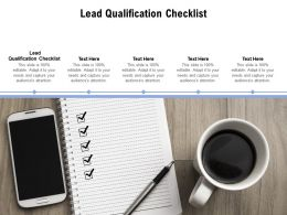 Lead Qualification Checklist Ppt Powerpoint Presentation Professional Show Cpb