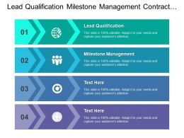 Lead Qualification Milestone Management Contract Management Product Information Management