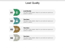 Lead Quality Ppt Powerpoint Presentation Summary Layout Cpb