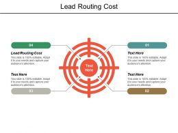 Lead Routing Cost Ppt Powerpoint Presentation Pictures Deck Cpb