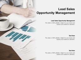 Lead Sales Opportunity Management Ppt Powerpoint Presentation Summary Portfolio Cpb