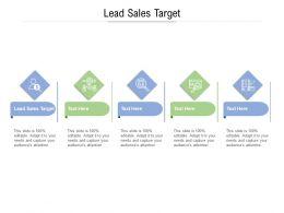 Lead Sales Target Ppt Powerpoint Presentation Slides Designs Download Cpb