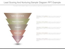 Lead Scoring And Nurturing Sample Diagram Ppt Example