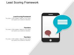 Lead Scoring Framework Ppt Powerpoint Presentation Portfolio Topics Cpb