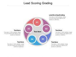 Lead Scoring Grading Ppt Powerpoint Presentation Gallery Slide Cpb