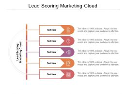 Lead Scoring Marketing Cloud Ppt Powerpoint Presentation Pictures Cpb
