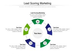 Lead Scoring Marketing Ppt Powerpoint Presentation Outline Background Designs Cpb