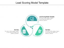 Lead Scoring Model Template Ppt Powerpoint Presentation Infographics Smartart Cpb