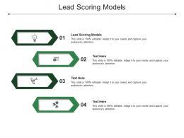 Lead Scoring Models Ppt Powerpoint Presentation Gallery Brochure Cpb