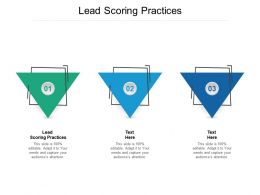 Lead Scoring Practices Ppt Powerpoint Presentation Infographics Themes Cpb