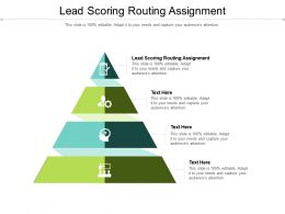 Lead Scoring Routing Assignment Ppt Powerpoint Presentation Styles Portfolio Cpb