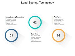 Lead Scoring Technology Ppt Powerpoint Presentation Layouts Example File Cpb
